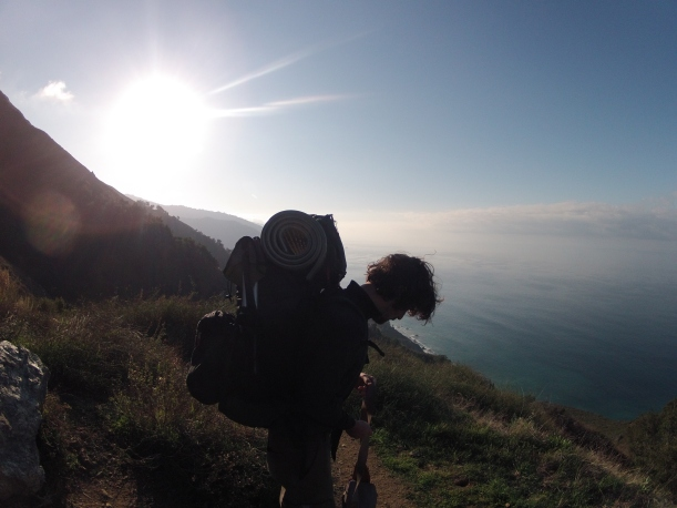 Backpacking in Big Sur, California