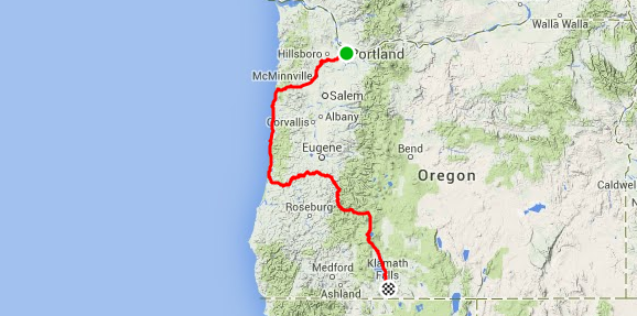 Oregon Bike Tour: Portland to Klamath Falls