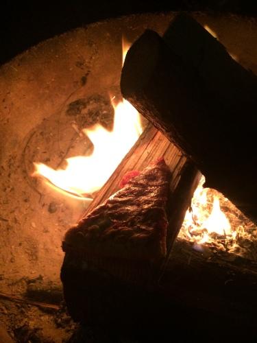 Campfire at Honeyman State Park Oregon Bike Tour